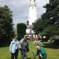 Mary, Phil along with Ron and the Withernsea lighthouse cat.