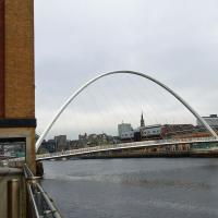 The Millennium Bridge was our access to restaurants and shops across the Tyne.