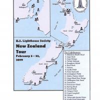 New Zealane 2019 Tour Map