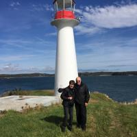 Peggy and Bill at Lighthouse Point