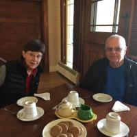 Peggy and Bill at Tea with Eleanor