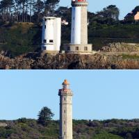 First two lights we passed on our way to Ouessant - Petit Minou & Pointe du Portzic