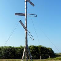 A semaphore telegraph is a system of conveying information by means of visual signals, using towers with pivoting shutters, also known as blades or paddles.