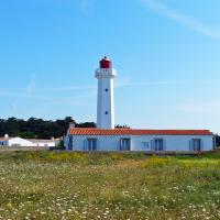 The Pointe des Corbeaux lighthouse was built in 1950 to replace the earlier tower destroyed during WWII