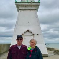 Dave and Cindy by Port Dover Lighthouse
