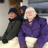 Randa and Lora on the Boat