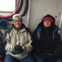 Richard and Airdrie on the Boat