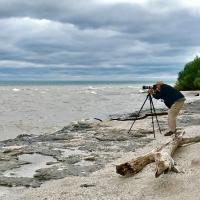 Richard and his tripod taking that great picture of Mohawk Island Lighthouse