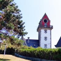 Colorful Rochebonne Lighthouse near St Malo