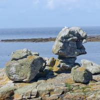 Interesting rock formations on Ile de Sein.  What do you see?