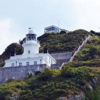 """Sark Lighthouse a """"rock"""" lighthouse, but one where the keeper could walk to a pub when off duty!"""