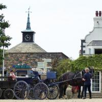 The island of Sark transportation is only by horse or tractor!