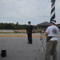 Siefken poses as a Keeper at the Pete Lerro Workshop at Cape Hatteras