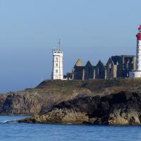 A nice view of St Mathieu from the ferry to Ouessant