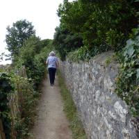 The hike to Pointe de Combrit (Phare de Sainte-Marine) was just around the corner and a short walk - NOT!
