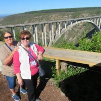 Wanda & Mary Ann thinking about bungee jumping the bridge