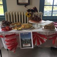 Welcome spread from the West Quoddy Lighthouse Staff