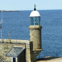 White Rock Pier light at the entrance to St Peter Port, Guernsey