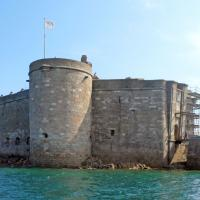 The Chateau du Taureau (Castle of the Bull) was built as a defense and lookout, then became a prison and then a holiday home and sailing school.