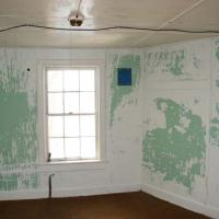 Bedroom in between kitchen and sitting room (still with USCG fabric on all coverings)