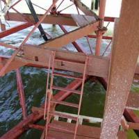 ladder Ladder from landing platform to storage platform area (which was destroyed by Hurricane Isabel in 2003).