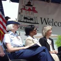 Rear Admiral Sally Brice-O'Hara, Commander, U.S. Coast Guard 5th District; Barbara Shelton, Mid-Atlantic Regional Administrator, General Services Administration; and the Honorable Gale Norton, Secretary of the Interior.